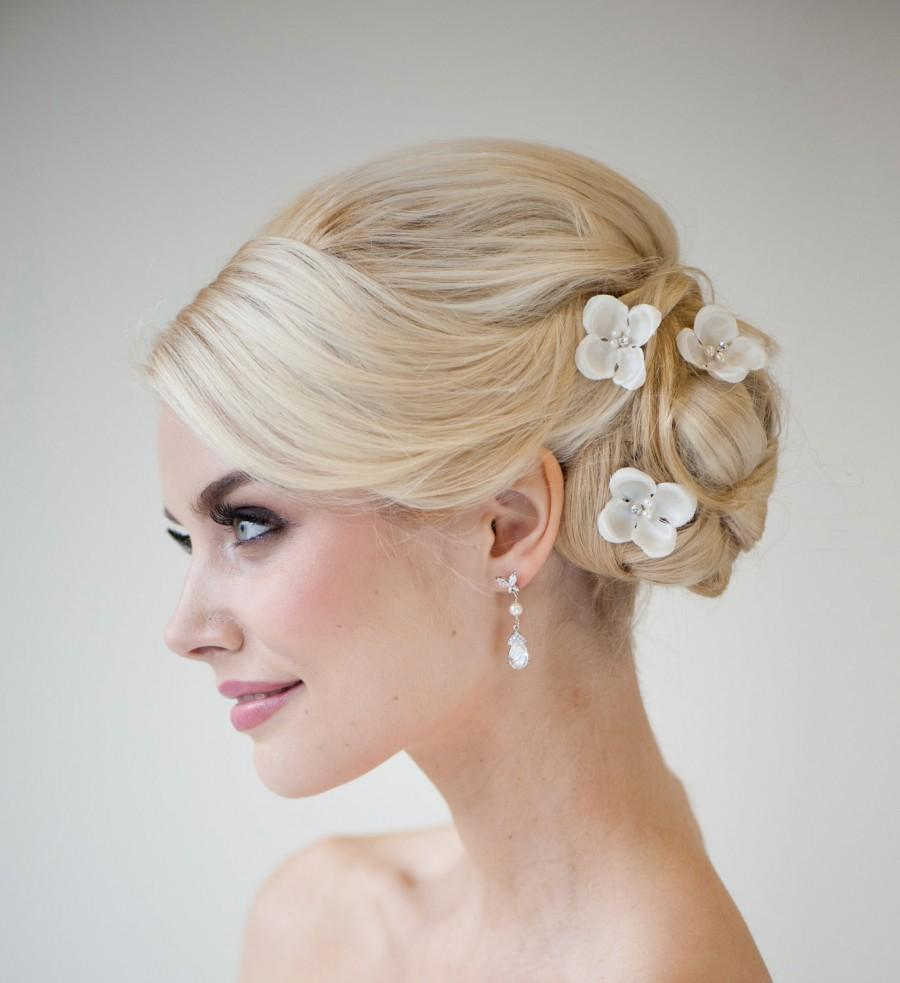 Silk Flower Hair Pins Bridal Hair Pins Wedding Hair Pins
