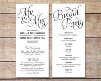 Simple Wedding Program - Customizable - Elegant Design ...