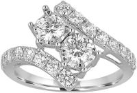 MODERN BRIDE 1 CT. T.W. Diamond Two-Stone 14K White Gold ...