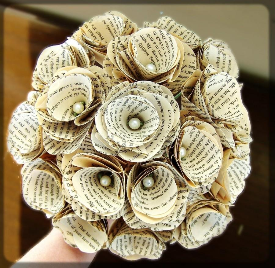 Book Page Bouquet Book Page Boutonniere Corsage Book