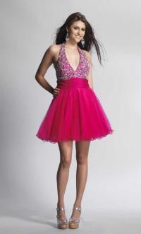 Halter Top Short Prom Dresses - Discount Evening Dresses