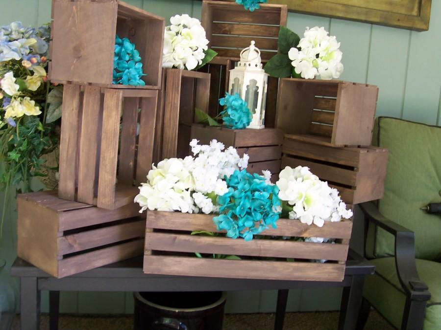 wedding centerpiece table center piece decoration wood crates rustic wedding wedding reception country wedding wedding decor crate 2439416 weddbook