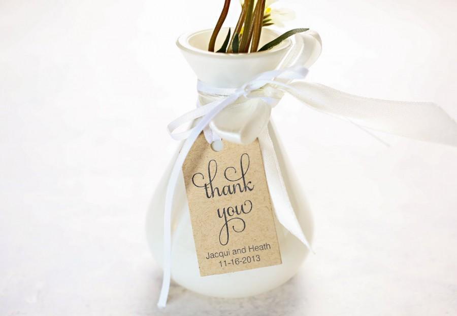 Thank You Wedding Favor Tags, Wedding Shower Gift Tag