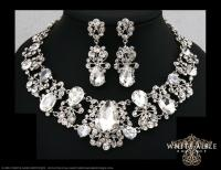 Bridal Jewelry Set, Crystal Statement Necklace Earrings ...