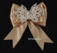 Champagne Wedding Champagne Flower Girl Bow Champagne Prom ...