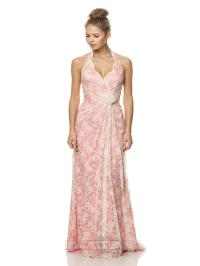 Halter Lace Bridesmaid Dresses With Scallop Edge ...