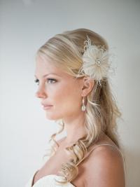 Wedding Hair Accessory, Feather Hair Clip, Wedding