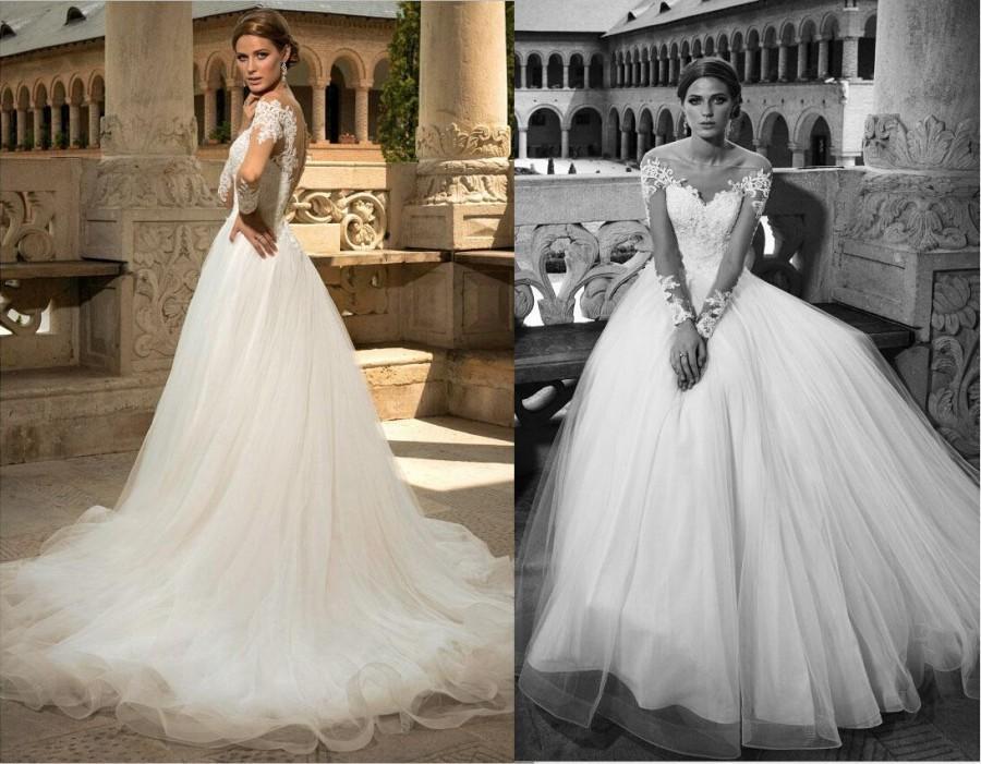 2016 New Beautiful BIEN SAVVY Wedding Dresses Illusion