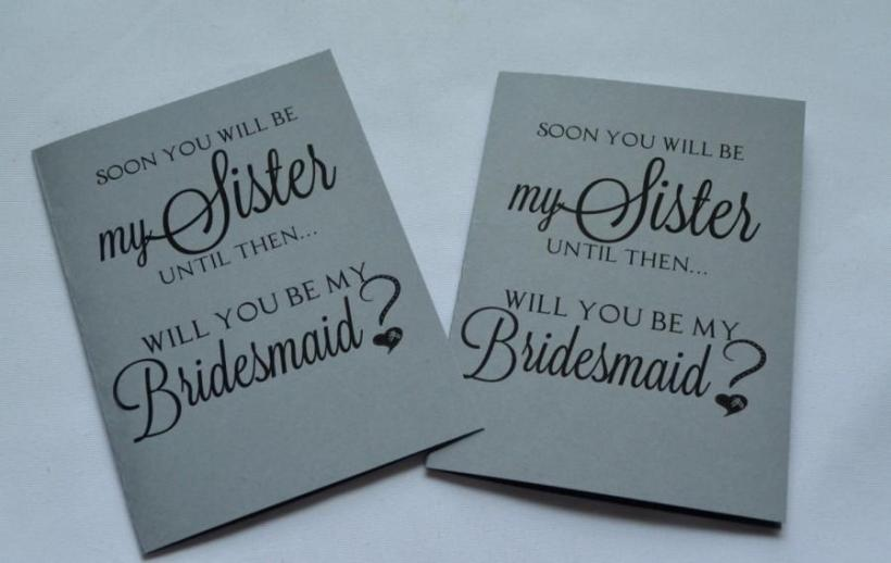 Soon You Will Be My Sister Bridesmaid Card Proposal Cards In Law To