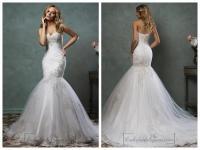 Pics For > Sweetheart Strapless Mermaid Wedding Dresses