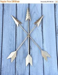 WINTER SALE Gold Arrows - Tribal Decor - Arrow Decor ...