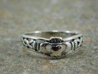 Free Engraving Mens Sterling Silver 925 Claddagh Ring ...