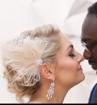 Wedding Fascinator, Feather Hair Clip, Ivory Fascinator ...
