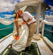 silk gardenia clip - tropical wedding