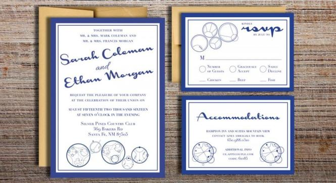 Gallifreyan Doctor Who Inspired Wedding Invitation Suite