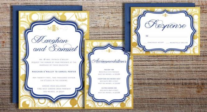 Doctor Who Inspired Gallifreyan Wedding Invitation Suite