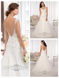 Elegant Beaded Cap Sleeves Sweetheart Embellished Wedding ...