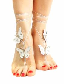 Color Options Butterfly Barefoot Sandal Genuine