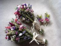 Wedding Country Bouquets Set Pink Purple Wedding Bouquets