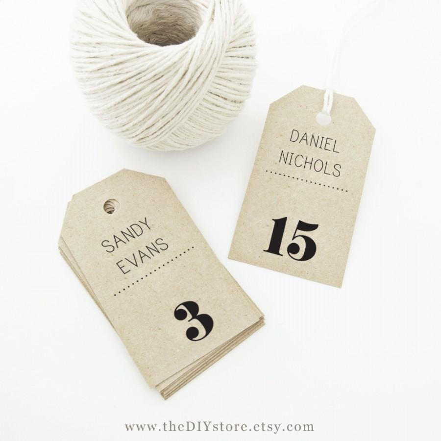 escort card tag printable