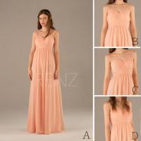 2015 Convertible Strap Peach Bridesmaid Dress, Pink Halter ...
