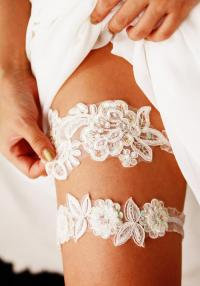 Bridal Garter Set Wedding Garters Lace Garter Set - Floral ...