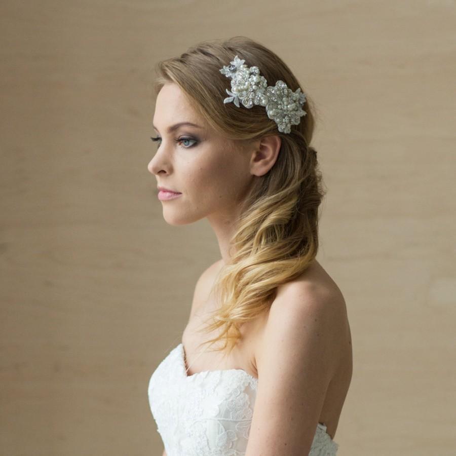 bridal hair piece bridal hair accessories wedding hair piece wedding hair comb lace hair comb bridal hair comb rhinestone pearl comb