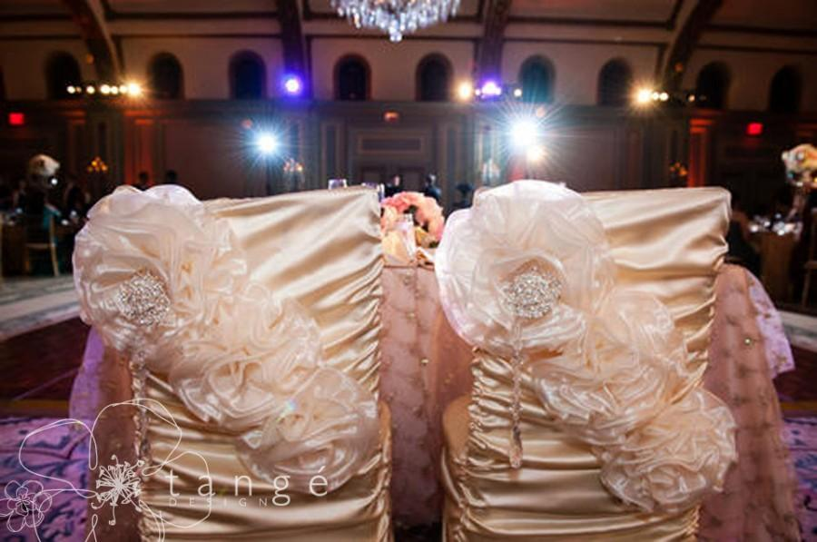 chair covers decorations vanity chairs for sale two wedding princess style the bride and groom quinceanera or special event