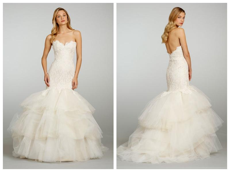 Champagne Strapless Sweetheart Lace Wedding Dress With