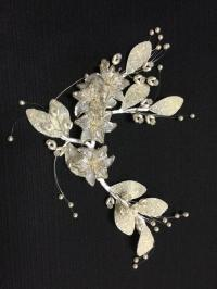 Vintage Flowers,Wedding Headband, Bridal Hair Garland