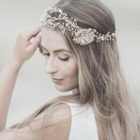 Wedding Hair Accessories ,Swarovski Bridal Headband ,Gold ...