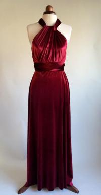 Infinity Dress, Bridesmaid Dress, Prom Dress, Red Velvet ...