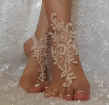 Wedding Bridal Party Barefoot