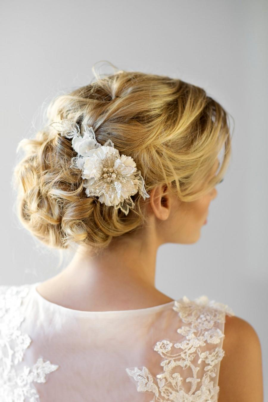 Bridal Flower Hair Comb Wedding Headpiece Bridal Flower