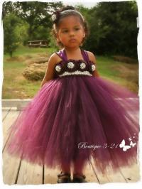 Eggplant Flower Girl Dress, Plum Flower Girl Dress, Plum ...