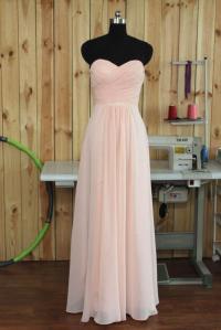 2015 Blush Bridesmaid Dress, Long Wedding Dress, Chiffon ...