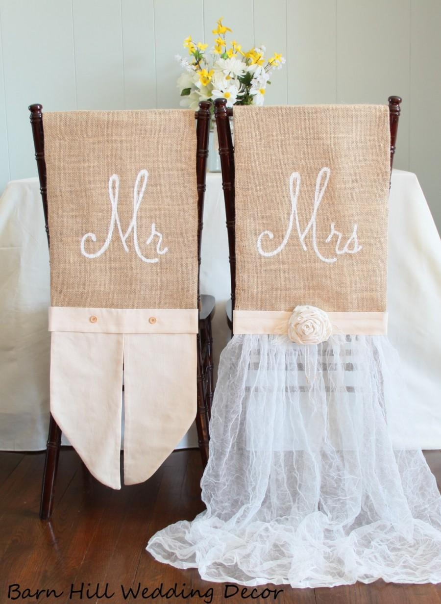 wedding chair covers for office chairs under 500 rustic country formal chiavari cover mr mrs set of 2
