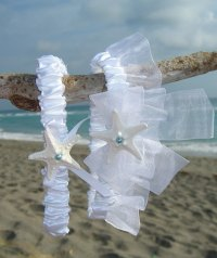 Beach Wedding Garter Set-SOMETHING BLUE-Bridal Garter Set ...