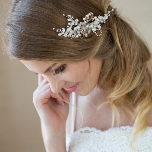 wedding hair comb, bridal hair comb, wedding hair