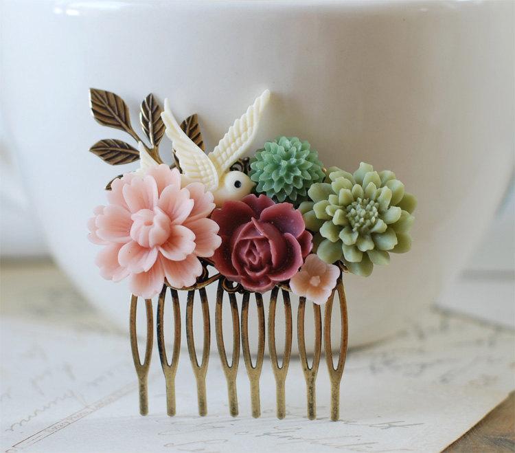 Wedding Hair Flowers Ivory