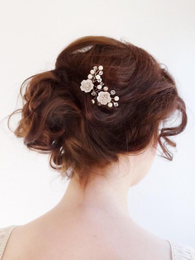 bridal crystal headpiece, wedding hair jewelry, mini small