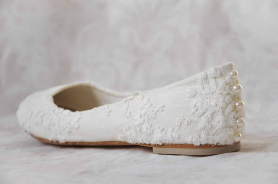 Wedding Shoes Lace Wedding Shoes Flats Pearl Shoes Lace