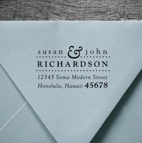 address stamp wood handle