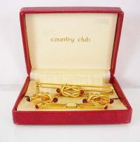 Red Wedding Love Knot Cufflink Set #2463991 - Weddbook