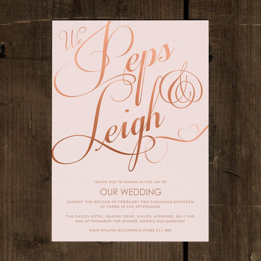 Elegant Classic Wedding Invitation Set On Luxury Card