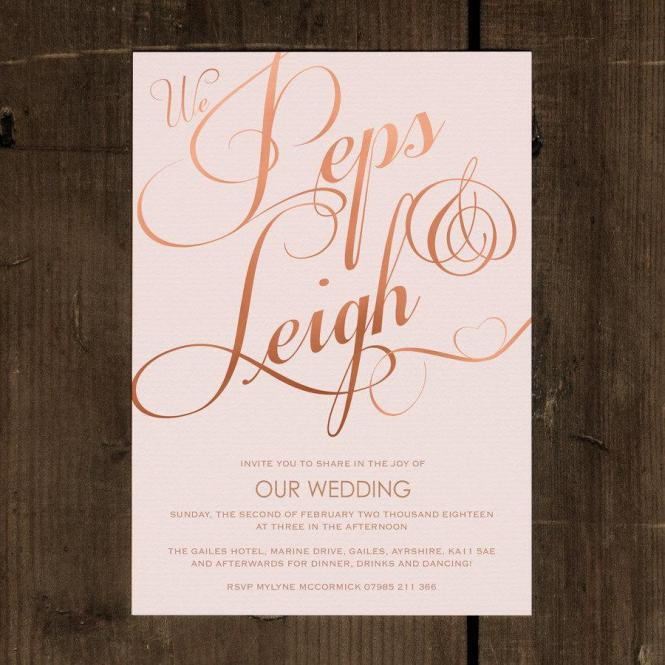 Blush And Gold Glitter Elegant Wedding Invitations Formal Letter With Beauty Cute Triple