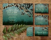 Garden Lights Wedding Invitation Set/Suite, Printed