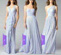Long Chiffon Bridesmaid Dress, Floor Length Formal Dress ...
