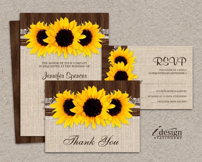 Sunflower Wedding Invitation Kits Invitations Ideas