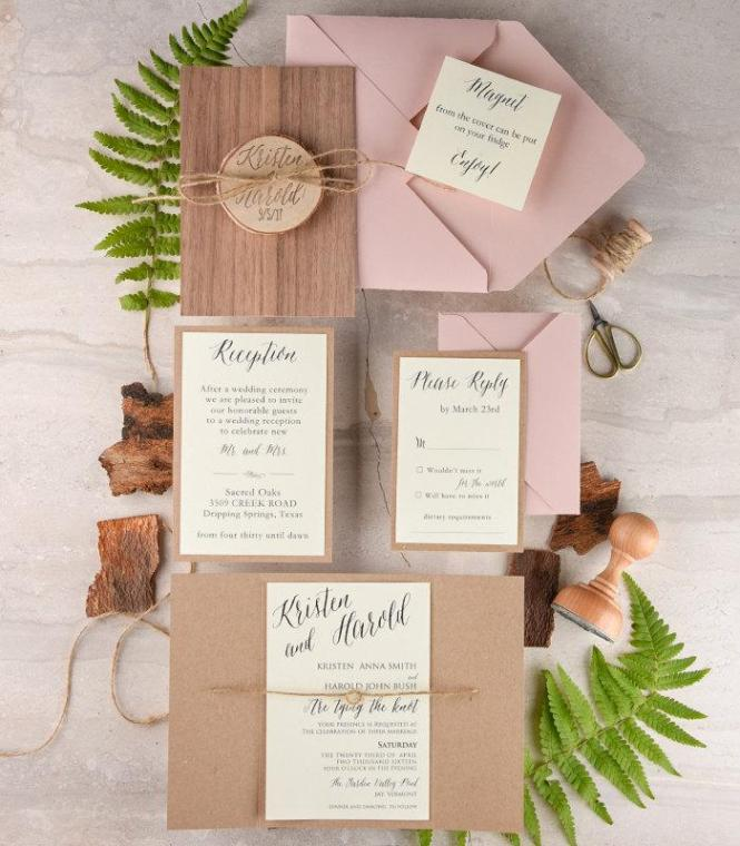 Rustic Wedding Invitation And Rsvp 20